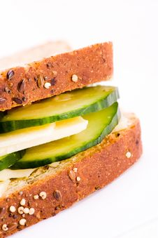 Free Cheese And Cucumber Sandwich Royalty Free Stock Photos - 8509238