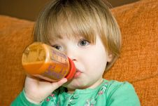 Baby Drinking Stock Photography