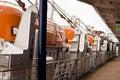 Free Lifeboats Along Walkway Royalty Free Stock Image - 8512926