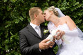 Free Kiss With Pigeons Stock Photo - 8516870