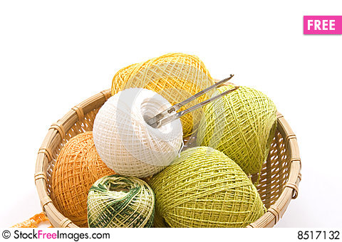 Items For Knitting Stock Photo