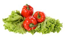 Free Red Pepper On Salad Royalty Free Stock Images - 8510029