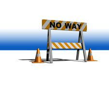 Free No Way! - Construction And Caution Sign Stock Photography - 8510042