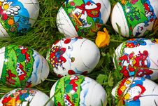 Free Easter Eggs In Grass Stock Images - 8510094