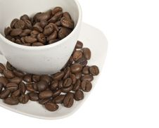 Free Cup With Coffe Beans Royalty Free Stock Image - 8510106
