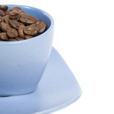 Free Cup With Coffe Beans Stock Images - 8510274