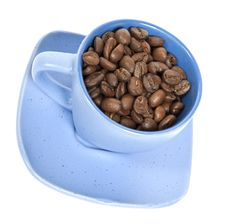 Free Cup With Coffe Beans Royalty Free Stock Photo - 8510375