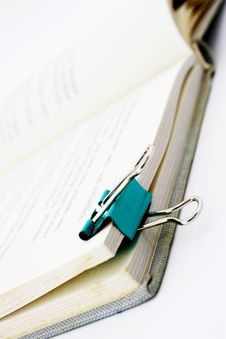 Free Book With Paper Clip Stock Images - 8510404
