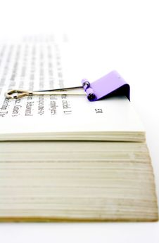 Free Book With Paper Clip Royalty Free Stock Photo - 8510435