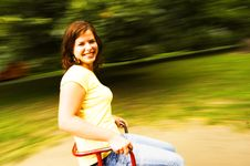 Free Young Girl Having Fun On Roundabout Royalty Free Stock Image - 8510696
