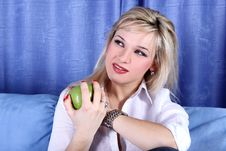 Free Girl With Apple Stock Photo - 8511330