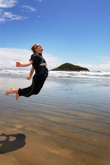 Free Jump To The Sun Stock Photo - 8511940