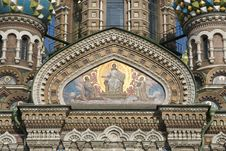 Free Spasa Na Krovi Cathedral Fresco Royalty Free Stock Photos - 8512078