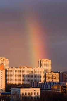 Free Rainbow In A City Stock Image - 8512241