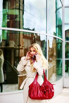 Free Beautiful Young Blondie In The City Stock Image - 8512251