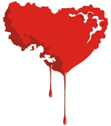 Heart Is Bleeding Of Blood. Royalty Free Stock Photography