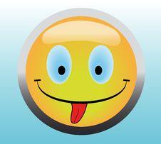 Free Happy Smile Button Stock Photo - 8512440