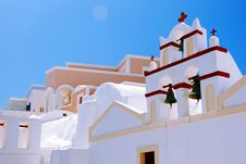 Free Orthodox Church In Oia - Santorini Stock Image - 8512641