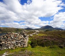 Old Ruin And Highlands Landscape Royalty Free Stock Image