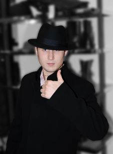 The Gentleman In A Hat Stock Photography