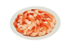 Prawns On Plate Royalty Free Stock Photos