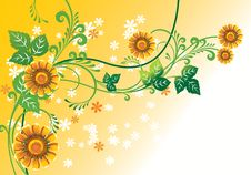 Free Floral Background Royalty Free Stock Images - 8513569