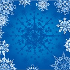 Free Background With Snowflakes Royalty Free Stock Image - 8513886