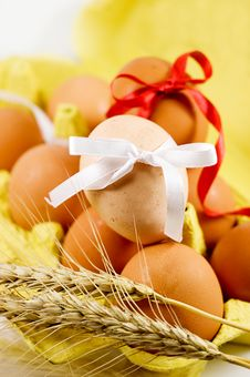 Eggs And Wheat Royalty Free Stock Photos