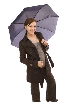 Free Woman With Umbrella Stock Images - 8514644