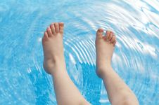 Free Feet In Pool Stock Photos - 8515383