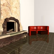 Free Heater,sofa 3d Max Royalty Free Stock Image - 8515756