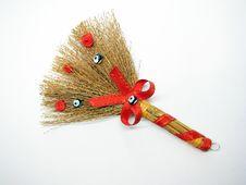 Souvenir Broom Royalty Free Stock Photos