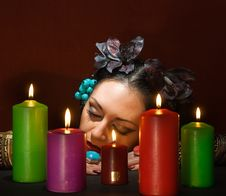 Free Relaxing Magic Woman Stock Photography - 8516412