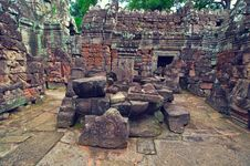 Inside View Of Ta Som Temple. Angkor Wat Stock Images