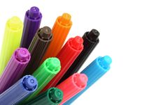Free Multicolored Felt Tip Pens Stock Images - 8516574