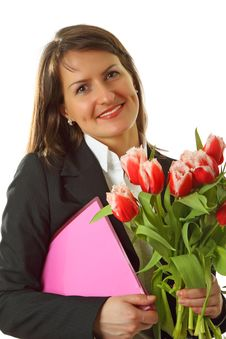 Free Portrait Of Young  Business Woman Royalty Free Stock Images - 8516639