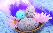 Free Easter Motive In Pink And Violet Tone Royalty Free Stock Images - 8516899