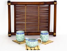 The Chinese Porcelain Tea-things Stock Photo