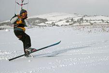 Kite Skiing Stock Images