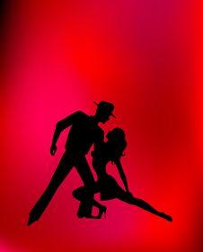 Free Pair Dancing A Tango Royalty Free Stock Image - 8517596