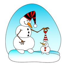Free Smiling Snowballs Royalty Free Stock Photos - 8517828