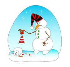 Free Smiling Snowballs Royalty Free Stock Image - 8517916
