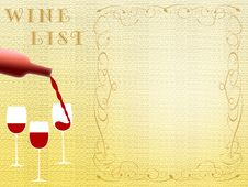 Free Wine List (02) Stock Photography - 8518102