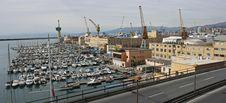 Free Genova Harbour Panoramic Shot Stock Image - 8518761
