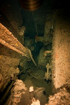 Free Engine Room Of The Dunraven Stock Photo - 8519060