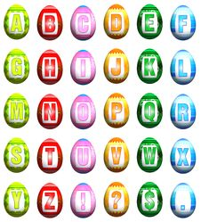 Free Easter Egg Font - Mixed Colors Stock Photo - 8519120