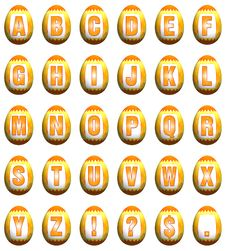 Free Easter Egg Font - Yellow And Orange Royalty Free Stock Photos - 8519128