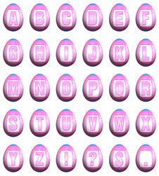 Easter Egg Font - Pink Royalty Free Stock Photo