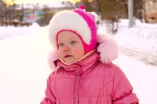 Free Pretty Little Girl In Winter Outerwear. Royalty Free Stock Image - 8519136