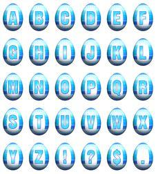 Easter Egg Font - Blue Stock Photo